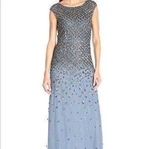 Adrianna Papell dusty blue dress
